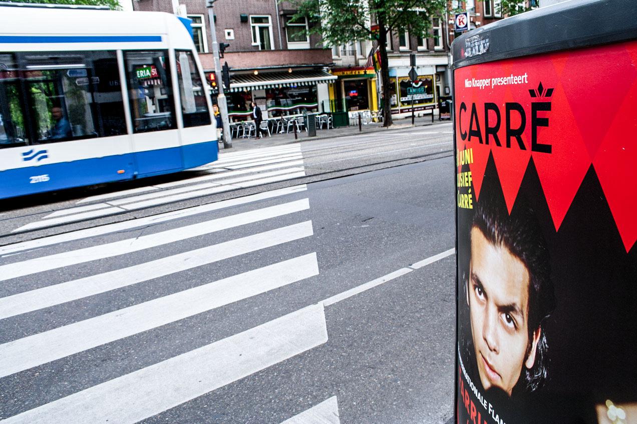 En las calles de Amsterdam se anuncia el cantaor Farruquito
