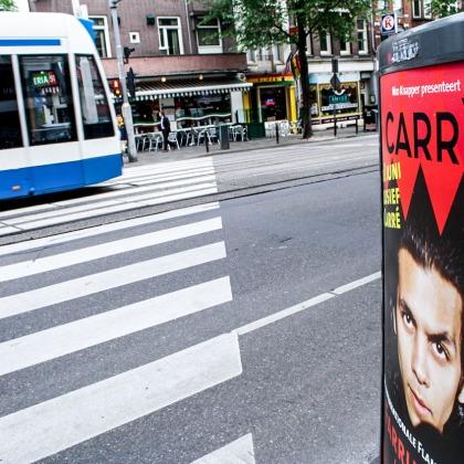 En las calles de Amsterdam se anuncia el cantaor Farruquito. © mateoht 1990-2013 - http://lafotodeldia.net