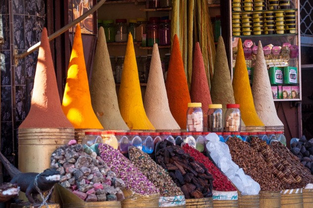 Especias en el mercado de Marrakech, Marruecos. © mateoht 1990-2013 - http://lafotodeldia.net