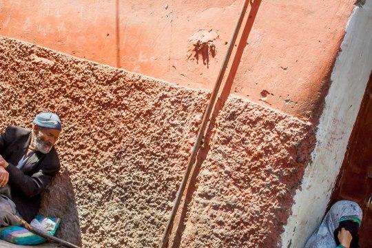 Fachada al sol, Marrakech, Marruecos. © mateoht 1990-2013 - http://lafotodeldia.net