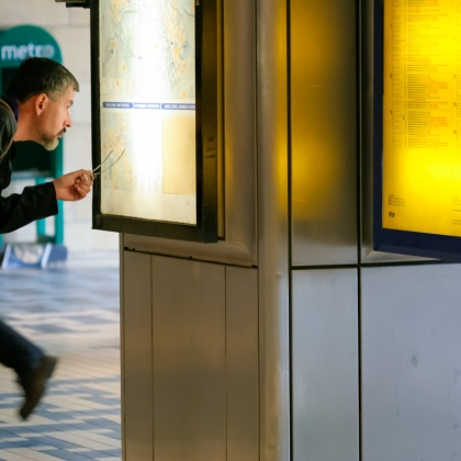 En el Metro en Amsterdam, Holanda. © mateoht 1990-2013 - http://lafotodeldia.net