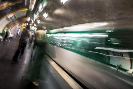 Estación de Blanche en el metro de París, Francia. © mateoht 1990-2013 - http://lafotodeldia.net