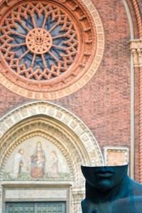 Estatua en una plaza de Milán. © mateoht 1990-2013 - http://lafotodeldia.net