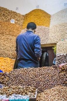 Vendedor de frutos secos en Marrakech. © mateoht 1990-2013 - http://lafotodeldia.net