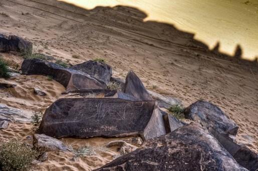 Grabados prehistóricos en el desierto, Argelia. © mateoht 1990-2013 - http://lafotodeldia.net