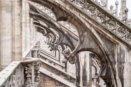 Detalle de la Catedral de Milán, Italia. Cartel en Lisboa, Portugal. © mateoht 1990-2013 - http://lafotodeldia.net
