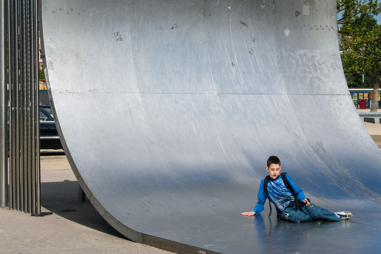 Niño en el parque, Amsterdam. © mateoht 1990-2013 - http://lafotodeldia.net
