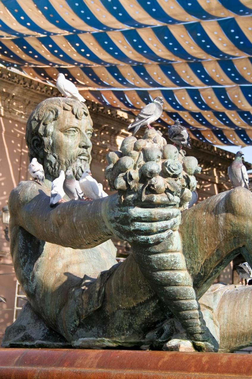 Estátua en la Plaza de la Virgen, Valencia © mateoht 1990-2014 - http://lafotodeldia.net