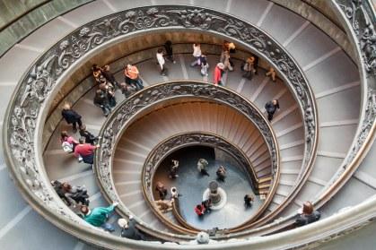 Escalera de caracol en los Museos Vaticanos. © mateoht 1990-2014 - http://lafotodeldia.net