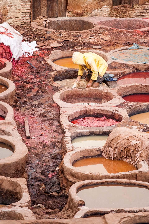 Barrio de curtidores, Fez, Marruecos. © mateoht 1990-2014 - http://lafotodeldia.net